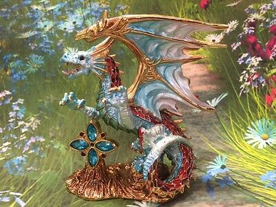 Arcus Dragon - Crystal Mementos Pewter and Coloured Enamel Figurine
