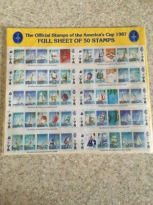 Solomon Islands 1987 America's Cup Full Sheet Of 50 Stamps