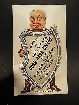 The Howard W. Spurr & Co. Pure Java Coffee Victorian Trade Card