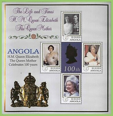 Angola 2000 Queen Mother 100th Birthday miniature sheet MNH