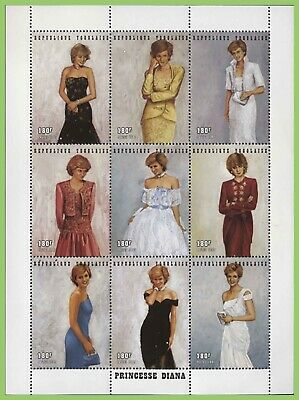 Senegal 1998 180F x 9 Princess Diana sheet, MNH