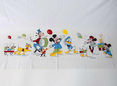 Vtg 60s Set of 2 Disney Pluto Mickey Mouse Goofy Double Size Flat Sheet Blanket