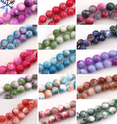 New Natural Stone Gemstone Spacer Loose Round Beads Jewelry Finding DIY 6/8/10MM