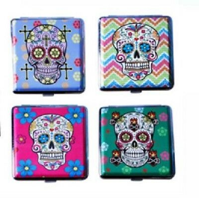 Hard Case Multicolour Sugar Candy Skull Cigarette Holder Push Tobacco Case