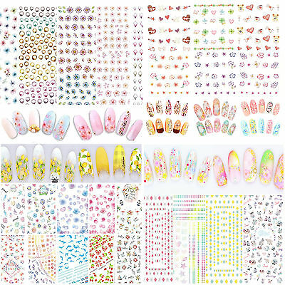 High 3D Beauty Nail Art Sticker Water Transfer Stickers Decoration Flower Tips