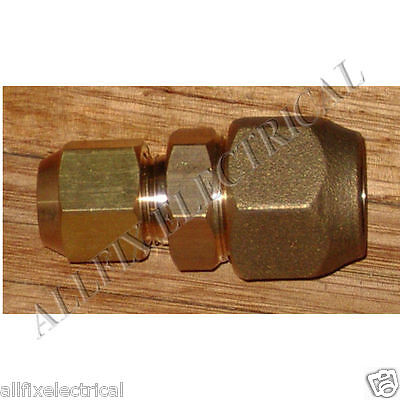 "Brass 3/4"" to 1/2"" Reducing Union With Flare Nuts - Part # RF706KIT"