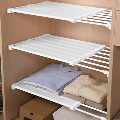 1PC Premium Expandable Adjustable Rack Hanger Rod Shelf Closet Clothes Organiser