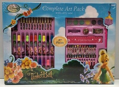 Disney Fairies Tinkerbell 87 Piece Complete Kids Art Pack