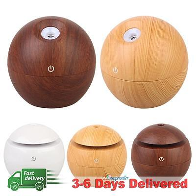 Wooden USB LED Aroma Essential Oil Diffuser Ultrasonic Air Humidifier Purifier