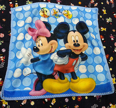 NEW ~MICKEY MINNIE MOUSE DATING DOTS Microfiber Handkerchief / Small Towel