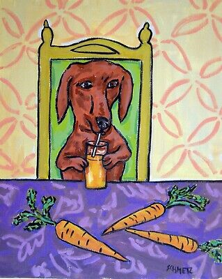 dachshund dog 8.5x11 glossy photo art print JSCHMETZ