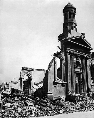 New 11x14 World War II Photo: Wrecked Building after Night Raid in London, 1941
