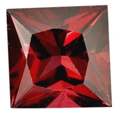 Natural Fine Vivid Deep Red Garnet - Square Princess - Tanzania - Top Grade