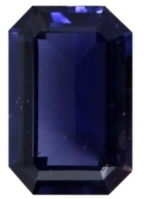 Natural Extra Fine Deep Purple Blue Iolite - Emerald Cut - Tanzania - Extra Fine