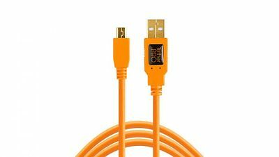 TetherPro USB 2.0 Male to Mini-B 5 pin - 4.6 m - Orange