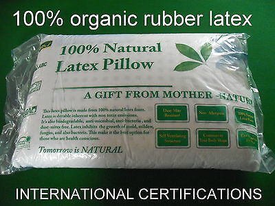 latex pillow 100% natural latex,100%  cotton inner cover  60*40*12.5CM 1.3KG