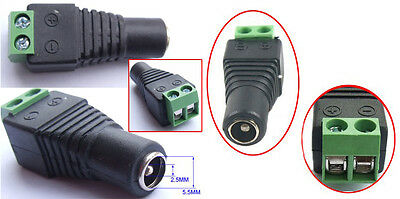 10 PCS 5.5MM X 2.5mm DC Female socket FOR CCTV Cable Power Charger Terminals