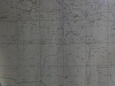 LAFIA,  Nigeria. 1967.  Military Joint Operations (GROUND) Restricted  Map PO43