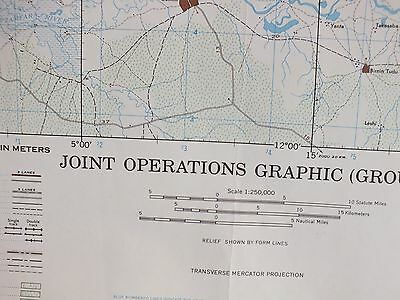 ARGUNGU Nigeria. 1967.  Military Joint Operations US Army (GROUND)  Map PO47