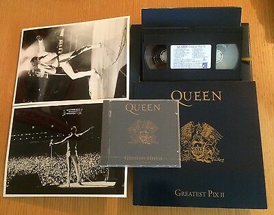 QUEEN II - RARE 1991 Ltd Issue Press Box Set. CD,VHS, 100 Page Book & 2 Photos