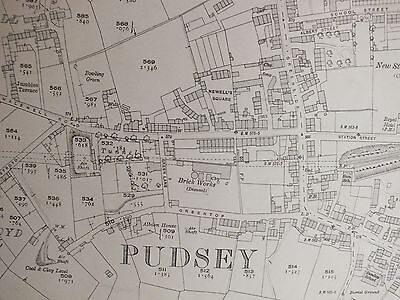 1921. Pudsey. Chapel Town. Delph End. Fulneck. Black Carr. Fartown. Houses  PO54