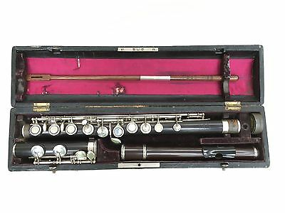 Antique Boehm Flute By Emil Rittenhausen Berlin C1890