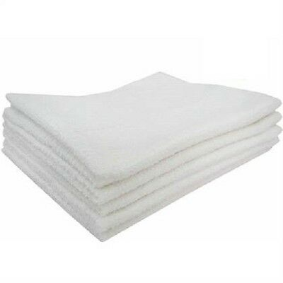 48 new large white terry shop towels restaurant terry cloth towels 16x19