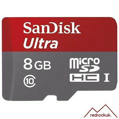 Sandisk Ultra 8GB Class 10 Micro SD SDHC Memory Card With Adapter