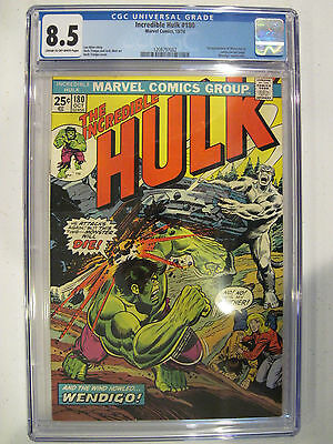 Incredible Hulk #180 Cameo Wolverine Appearance CGC 8.5