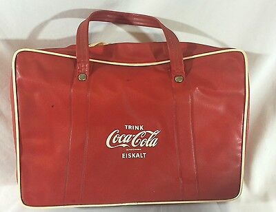 Vintage Insulated Drink COCA-COLA Vinyl Zipper Bag GERMANY