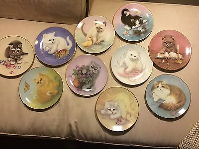 Hamilton Collection BOB HARRISON Curious Kittens Complete Set Of 10 Plates
