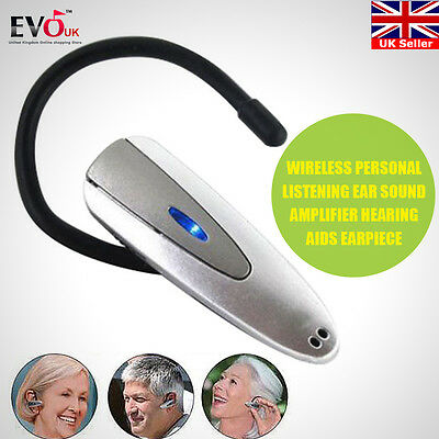 Wireless Ear Sound Amplifier Personal Listening Hearing Aids Earpiece