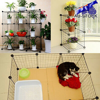 AU STOCK DIY 1~9Cube Bookshelve Storage Home & Garden Potted Shelf Or Pet Kennel