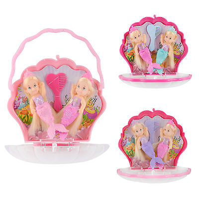 Evi Love Little Mermaid Sisters Twins Girls Dolls Toy Shell Case Assortment