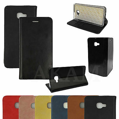 PU Leather Book Wallet Flip Stand Protective Case Cover For Samsung Galaxy C7