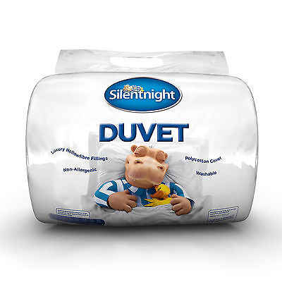 Silentnight Soft Hollowfibre Duvet With Smooth Polycotton Cover - 15 Tog - King