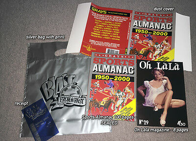 Grays SPORTS ALMANAC PROP SET - with bill, bag, Oh Lala - BACK TO THE FUTURE II