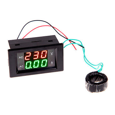 200A AC LCD Digital Digital Voltage Panel Meter Monitor Power Voltmeter Ammeter