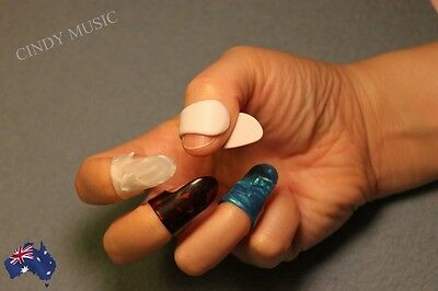 1 Thumb + 3 Finger Nail Guitar Picks Plectrum colorful bass Banjo New