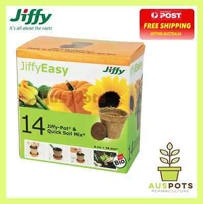 Jiffy Easy Starter Set - 14 Jiffy pots and compressed pellets