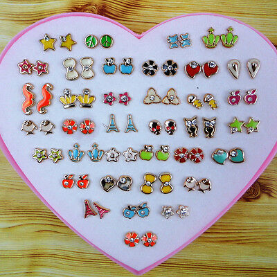 2016 Children Girls Kids High-grade Diamond Jewelry Box Earrings Wholesale Gift