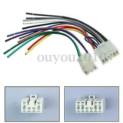 CAR STEREO CD Player Wiring Harness Adapter Cable Aftermarket Radio ...