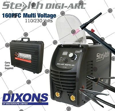SWP Stealth DIGI-ARC 160PFC Dual Voltage 110v 230v Inverter Stick MMA TIG Welder
