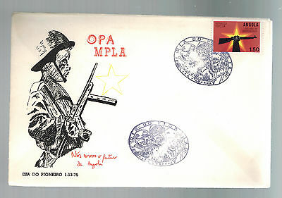 1975 Angola First Day Cover FDC MPLA Pioneer Day