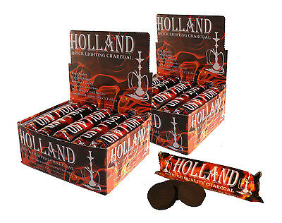 AUTHENTIC Holland 33mm Charcoal 200 pcs Quick for Incense Frankencense Hookah