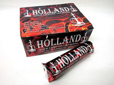 AUTHENTIC Holland 40mm Charcoal 100 Quick Light for Incense Frankencense Hookah