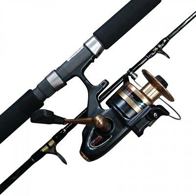 Penn Spinfisher 650ssm reel with an 8 foot Crystal Power Tip rod