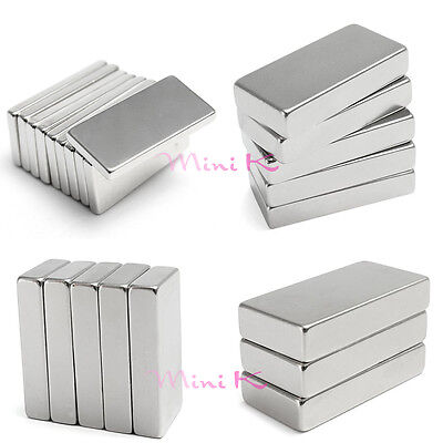 N35 Super Strong Rare Earth NdFeB Long Neodymium Block square Magnets New