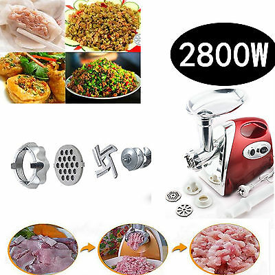 2800W Electric Auto Carrot Meat Grinder Sausage Maker Filler Mincer Stuffer Red