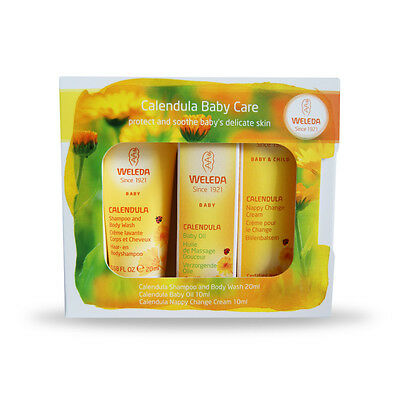 Weleda - Calendula Baby Care Starter Pack - No Petrochemicals/parabens + Sample